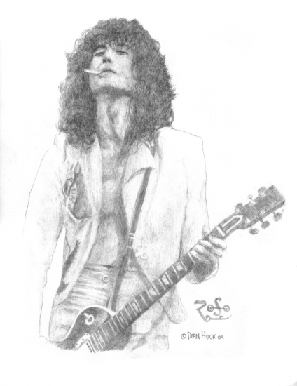 Portrait Of Jimmy Page By Dhwallartist On Stars Portraits 1